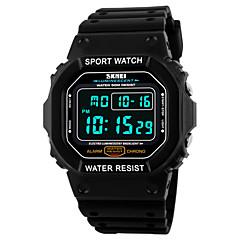 tanie Promocje zegarków-SKMEI Męskie Cyfrowe Zegarek na nadgarstek Sportowy Alarm Kalendarz Chronograf Wodoszczelny Sportowy LED PU Pasmo Nowoczesne Czarny