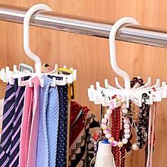abordables Almacenamiento para Baño y Colada-ajustable 20 gancho rotating belt rack bufanda organizador hombres corbata perchas