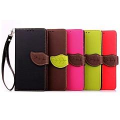 лист шаблон PU кожаный бумажник чехол для Sony Xperia Z1 / Z3 / Z4 / z1 мини / Z3 мини / Z4 мини / м2 / M4 / е2 / е4 (ассорти цветов)