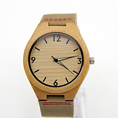 preiswerte Tolle Angebote auf Uhren-Herrn Armbanduhr Quartz Chronograph Leder Band Braun Khaki