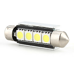 42mm 4 SMD LED White Light Bulb 5500K DC 12V High Quality Reading Light