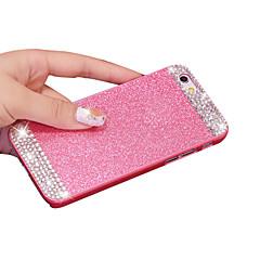 Недорогие Кейсы для iPhone X-Назначение iPhone X iPhone 8 Кейс для iPhone 5 Чехлы панели Стразы Задняя крышка Кейс для Сияние и блеск Твердый PC для iPhone X iPhone 8