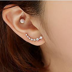Női Beszúrós fülbevalók Divat luxus ékszer jelmez ékszerek Strassz Hamis gyémánt Ötvözet Star Shape Ékszerek Kompatibilitás Esküvő Parti