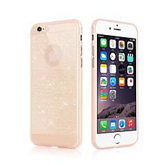 Недорогие Кейсы для iPhone 6-Кейс для Назначение Apple iPhone 6 iPhone 6 Plus Ультратонкий Кейс на заднюю панель Сияние и блеск Мягкий ТПУ для iPhone 6s Plus iPhone