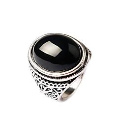 お買い得  指輪-女性用 ステートメントリング  -  ゴールドメッキ ファッション ワンサイズ ブラック / レッド 用途 パーティー