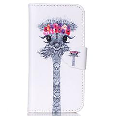 Недорогие Кейсы для iPhone 7 Plus-Кейс для Назначение Apple iPhone 6 iPhone 6 Plus Бумажник для карт Кошелек со стендом Флип С узором Чехол Животное Твердый Кожа PU для