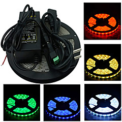 tanie Taśmy LED-Z®zdm 5m 300x5050 smd światłowód taśmowy i złącze oraz ac110-240v do dc12v6a eu us uk au transformer