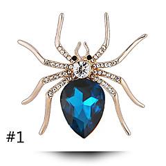 Kryształ jest przycisk osobowość samicy pająka wysokiej jakości perły broszka szal