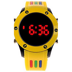 preiswerte Tolle Angebote auf Uhren-Herrn Armbanduhr digital Caucho Band digital Charme Weiß / Blau / Rot - Rot Grün Rosa