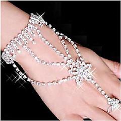preiswerte Armbänder-Damen Wickelarmbänder Ring-Armbänder - Strass, versilbert, Diamantimitate Stern Armbänder Weiß Für Party Alltag