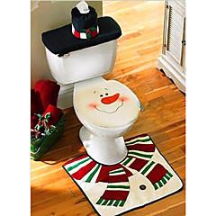 karácsonyi dekoráció mosdóban santa hóember WC-ülőke fedelét