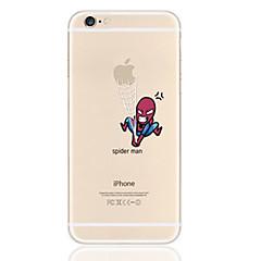 Недорогие Кейсы для iPhone-Кейс для Назначение iPhone 5 / Apple / iPhone X iPhone X / iPhone 8 Plus / Кейс для iPhone 5 Ультратонкий / Прозрачный / С узором Кейс на заднюю панель Композиция с логотипом Apple Мягкий ТПУ для