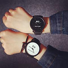 preiswerte Armbanduhren für Paare-Herren / Damen / Paar Modeuhr Quartz Leder Band Marke-
