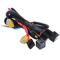 abordables Piezas para el Coche-h4 / 9003 toma el fusible del relé conector del mazo de cables de refuerzo de los faros