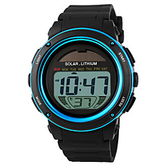 Skmei® Men's Round Dial PU Band Outdoor Sports Solar LED Wrist Watch 50m Waterproof Assorted Colors Cool Watch Unique Watch Fashion Watch