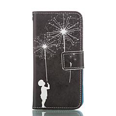 Недорогие Кейсы для iPhone 5-Кейс для Назначение Apple iPhone 6 iPhone 6 Plus Бумажник для карт Кошелек со стендом Чехол одуванчик Твердый Кожа PU для iPhone 6s Plus