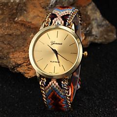 preiswerte Damenuhren-Damen Quartz Armbanduhr Schlussverkauf Stoff Band Böhmische Modisch Mehrfarbig
