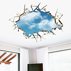모양 3D 벽 스티커 3D 월 스티커 데코레이티브 월 스티커,비닐 자료 이동가능 홈 장식 벽 데칼
