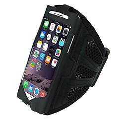 tanie Etui do iPhone 6 Plus-Kılıf Na iPhone 6s Plus iPhone 6 Plus iPhone 6s iPhone 6 Uniwersalny Z okienkiem Opaska Opaska na ramię Solid Color Miękkie Włókienniczy