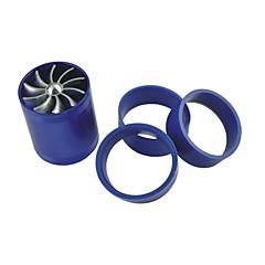 billiga Avgassystem-fordon bil dubbel turbinturboladdare luftintags gasformigt bränsle sparare fan blå