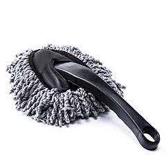 Car Duster Cleaning Dirt Dust Clean Brush Dusting Tool Mop Gray