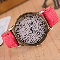 preiswerte Armbanduhren für Paare-Damen Quartz Modeuhr Schlussverkauf Leder Band Retro Schwarz Weiß Blau Rot Braun Grün Grau Rosa Gelb