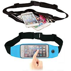 Недорогие Универсальные чехлы и сумочки-Кейс для Назначение iPhone 6s Plus iPhone 6 Plus универсальный с окошком Мешочек Сплошной цвет Мягкий текстильный для