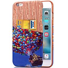 karzea ™ красочные картины шар искусственная кожа Задняя крышка случай с держателем карты для iphone 6plus / 6splus