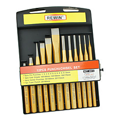 REWIN® TOOL 12pcs Punch and Chisel Set with CR-V Material