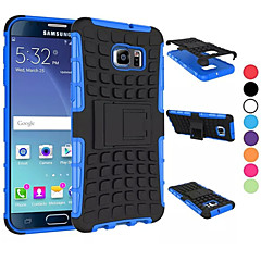 For Samsung Galaxy etui Stødsikker Med stativ Etui Bagcover Etui Armeret PC for Samsung S6 edge plus S6 edge S6 S5 Mini S5 S4 S3