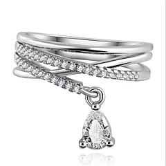 olcso Gyűrűk-Női Vallomás gyűrűk Luxus Divat Cirkonium Kocka cirkónia Ötvözet Lógó Ékszerek Parti Napi Hétköznapi
