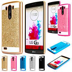 Недорогие Чехлы и кейсы для LG-Для Кейс для LG Покрытие Кейс для Задняя крышка Кейс для Сияние и блеск Твердый PC LG LG G4 / LG G3 / LG G9