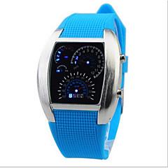 preiswerte Herrenuhren-digital Armbanduhr LED Caucho Band Charme Schwarz Weiß Blau Rot Grün