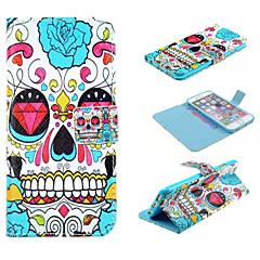 Для Кейс для iPhone 6 / Кейс для iPhone 6 Plus Кошелек / Бумажник для карт / со стендом / Флип / С узором Кейс для Чехол Кейс для Череп
