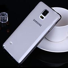 Недорогие Чехлы и кейсы для Galaxy Note 5-Кейс для Назначение SSamsung Galaxy Samsung Galaxy Note Ультратонкий / Прозрачный Кейс на заднюю панель Однотонный ТПУ для Note 5 / Note 4 / Note 3