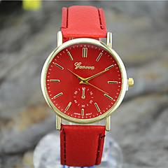 זול מבצעי שעונים-לנשים שעוני אופנה קווארץ PU להקה שחור לבן כחול אדום חום ירוק שחור חום אדום ירוק כחול