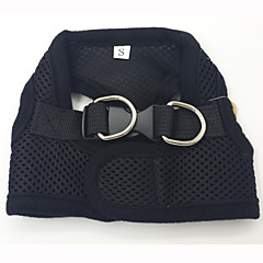 お買い得  犬用首輪/リード/ハーネス-犬用品 ハーネス 調整可能/引き込み式 / ベスト / 高通気性 レッド / ブラック / ピンク 織物