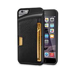 защитный ультра-тонкий кожаный TPU задняя крышка для iphone 6с 6 плюс