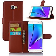 Mert Samsung Galaxy tok Kártyatartó Állvánnyal Flip Mágneses Case Teljes védelem Case Egyszínű Műbőr mert SamsungA5 (2017) A3 (2017) A7