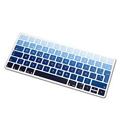お買い得  MAC 用キーボード カバー-魔法のキーボード2015バージョンEUのレイアウトのためのスペイン語の虹勾配超薄型シリコンキーボードスキンカバー