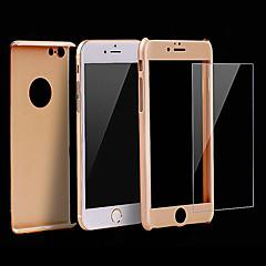 Недорогие Кейсы для iPhone 6-высокая премия ПК полное тело крышки с закаленным случае стеклянной пленки для iphone 6с 6 плюс