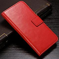 Недорогие Кейсы для iPhone 7 Plus-DE JI Кейс для Назначение Apple iPhone 8 / iPhone 8 Plus / iPhone 7 Кошелек / Бумажник для карт / со стендом Чехол Однотонный Твердый Кожа PU для iPhone 8 Pluss / iPhone 8 / iPhone 7 Plus