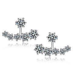 お買い得  イヤリング-男性用 女性用 純銀製 スタッドピアス  -  イヤリング 用途 結婚式 パーティー 日常
