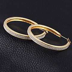 abordables Bijoux pour Femme-Femme Zircon Boucles d'oreille gitane - Zircon, Plaqué argent Large Or / Argent Pour