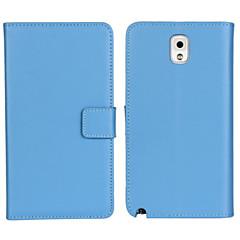 Недорогие Чехлы и кейсы для Galaxy Note 3-Кейс для Назначение SSamsung Galaxy Samsung Galaxy Note Кошелек / Бумажник для карт / со стендом Чехол Однотонный Кожа PU для Note 3