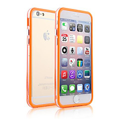 Недорогие Кейсы для iPhone 6-Кейс для Назначение Apple iPhone 6 iPhone 6 Plus Прозрачный Бампер Однотонный Мягкий ТПУ для iPhone 6s Plus iPhone 6s iPhone 6 Plus