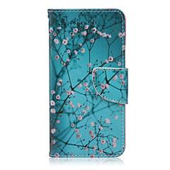 Pentru Carcasă LG Titluar Card / Portofel / Cu Stand / Întoarce Maska Corp Plin Maska Floare Greu PU piele LG LG Nexus 5X