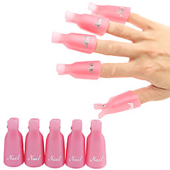 10PCS Remove Nail Polish Clip Can Be Used Repeatedly Soak Off Clip Cap Random Color