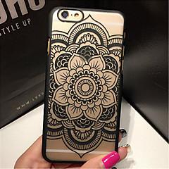 Недорогие Кейсы для iPhone 6-Ретро цветочный узор рельеф ажурные печать материал ПК телефон случае для iphone 6с 6 плюс
