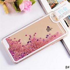 Недорогие Кейсы для iPhone 6-Кейс для Назначение Apple iPhone 6 Plus / iPhone 6 Движущаяся жидкость Кейс на заднюю панель Сияние и блеск Твердый ПК для iPhone 6s Plus / iPhone 6s / iPhone 6 Plus
